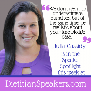 Dietitian Speaker Julia Cassidy